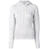 Kenzo Hooded Ribbed Knit Sweater - Cinza