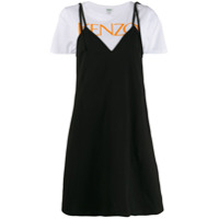 Kenzo Layered T-Shirt Dress - Preto