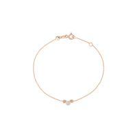 Kismet By Milka Pulseira De Ouro Rosê 14Kt Aries - The Ram Com Diamante - Rose Gold