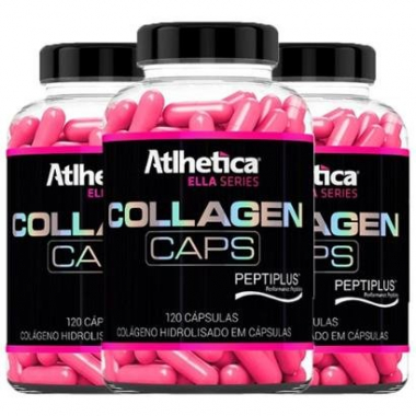 Kit 3X Collagen Caps Ella Atlhetica 120 Cápsulas-Feminino