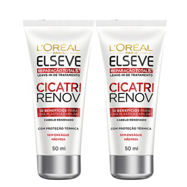 Kit Leave In Reparador L'oréal Paris Elseve Cicatri Renov 50Ml 2 Unidades-Feminino