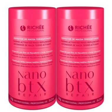 Kit Richée Nano Btx Repair Repositor De Massa Máscara 2X1Kg-Feminino