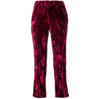Koché Cropped Tailored Trousers - Rosa