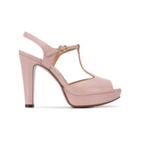 L'autre Chose T-Bar Heeled Sandals - Rosa