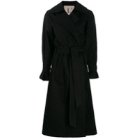 L'autre Chose Trench Coat Com Transpasse - Preto
