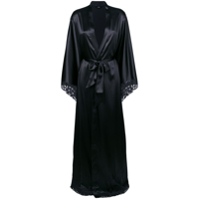 La Perla Satin Floor-Length Robe - Preto