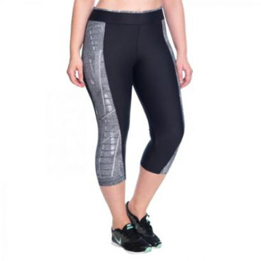 Legging Fitness Curta Urban Marcyn Plus Size-Feminino