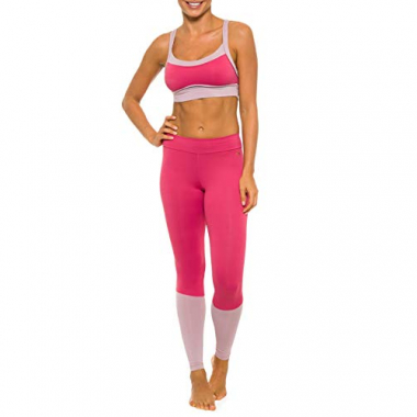Legging Rainha Saute Pink E Rose