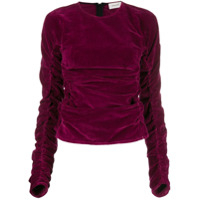Lemaire Ruched Velvet Top - Rosa