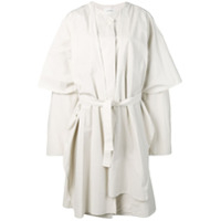 Lemaire Trench Coat Oversized - Branco