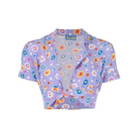 Lhd Blusa Cropped Floral - Roxo