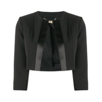 Liu Jo Fitted Cropped Jacket - Preto