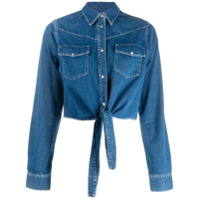 Liu Jo Knot Detail Denim Shirt - Azul