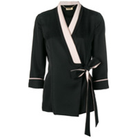 Liu Jo Side Tie Fitted Jacket - Preto