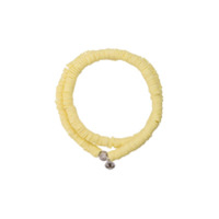 Lord And Lord Designs Pulseira tribal com contas - Amarelo