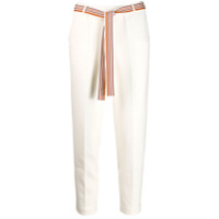 Loro Piana Belted Cropped Trousers - Branco
