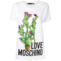 Love Moschino Camiseta Com Estampa De Cactos - Branco