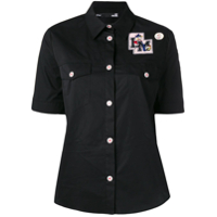Love Moschino Camisa College Doll Com Patch - Preto