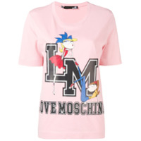 Love Moschino Camisa College Doll Com Patch - Rosa