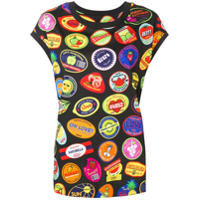 Love Moschino Camisa Com Estampa Stickers - Preto
