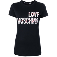 Love Moschino Camiseta Cheerleader Doll Com Logo - Preto