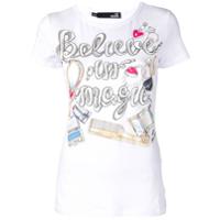 Love Moschino Camiseta Com Estampa 'believe In Magic' - Branco