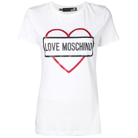 Love Moschino Camiseta Com Logo - Branco