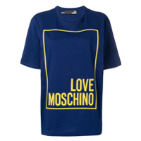Love Moschino Camiseta Estampada - Azul