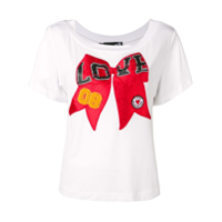 Love Moschino Camiseta Estampada - Branco