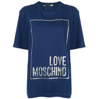 Love Moschino Camiseta Love - Azul