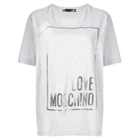 Love Moschino Camiseta Love - Cinza
