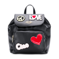 Love Moschino Ciao Patch Backpack - Preto
