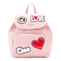 Love Moschino Mochila Com Patch Ciao - Rosa