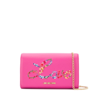 Love Moschino Clutch Bordada - Rosa