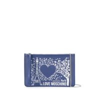 Love Moschino Clutch Paris - Azul