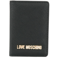 Love Moschino Folded Card Case - Preto