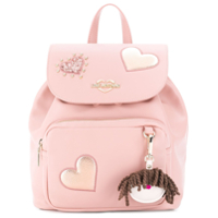 Love Moschino Mochila 'heart'com Patch - Rosa