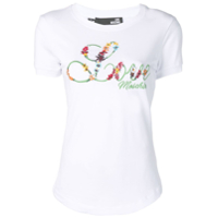 Love Moschino Camiseta Com Logo Bordado - Branco