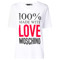 Love Moschino Camiseta Com Estampa De Logo - Branco