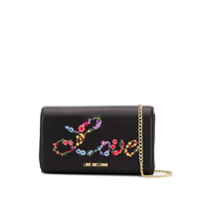 Love Moschino Clutch Love Com Bordado - Preto