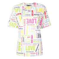 Love Moschino Camiseta Com Padronagem Love - Branco