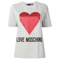 Love Moschino Camiseta Estampada - Cinza