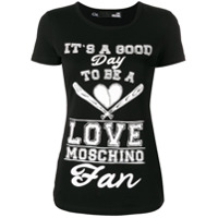Love Moschino Printed T-Shirt - Preto