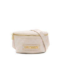 Love Moschino Quilted Belt Bag - Branco