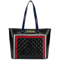 Love Moschino Quilted Logo Tote - Preto