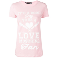 Love Moschino Camiseta Com Estampa - Rosa