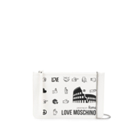 Love Moschino Clutch Roma Com Estampa - Branco