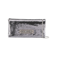 Love Moschino Sequined Clutch Bag - Prateado
