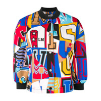 Love Moschino Typography Bomber Jacket - Rosa