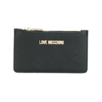 Love Moschino Zipped Saffiano Card Holder - Preto